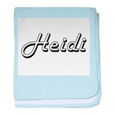 Heidi Classic Retro Name Design baby blanket