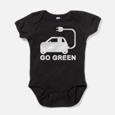 Go Green ~ Drive Electric Cars Baby Bodysuit