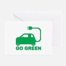 Go Green ~ Drive Electric Cars Greeting Cards