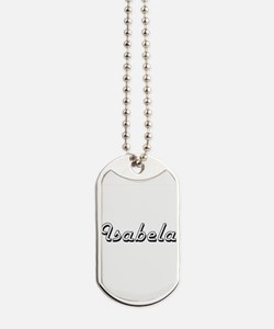 Isabela Classic Retro Name Design Dog Tags
