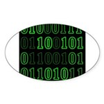 Computer Geek Binary Oval Sticker