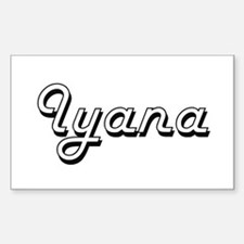 Iyana Classic Retro Name Design Decal
