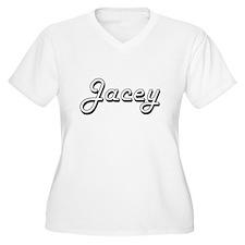 Jacey Classic Retro Name Design Plus Size T-Shirt