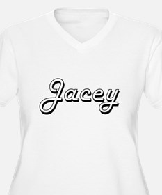 Jacey Classic Retro Name Design Plus Size T-Shirt