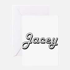 Jacey Classic Retro Name Design Greeting Cards