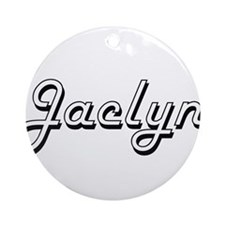 Jaclyn Classic Retro Name Design Ornament (Round)