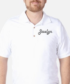 Jaelyn Classic Retro Name Design Golf Shirt