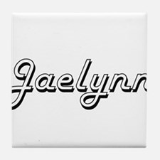 Jaelynn Classic Retro Name Design Tile Coaster