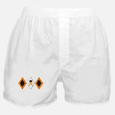 Orange Argyle Clockwork Boxer Shorts