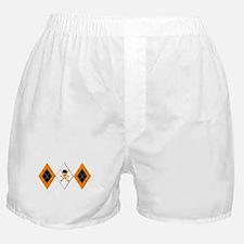 Orange Argyle Clockwork Boxer Shorts