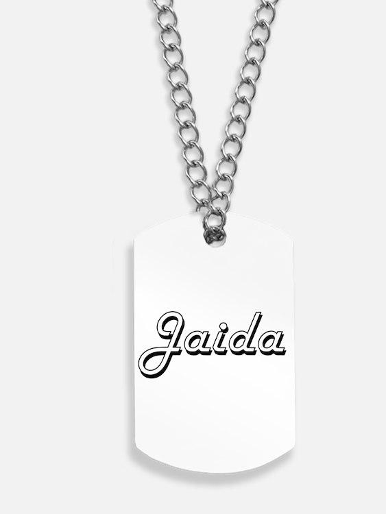 Jaida Classic Retro Name Design Dog Tags