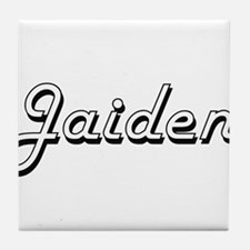Jaiden Classic Retro Name Design Tile Coaster