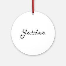 Jaiden Classic Retro Name Design Ornament (Round)