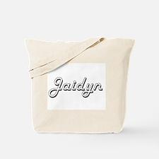 Jaidyn Classic Retro Name Design Tote Bag