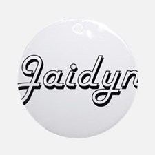 Jaidyn Classic Retro Name Design Ornament (Round)
