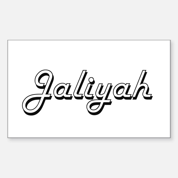 Jaliyah Classic Retro Name Design Decal