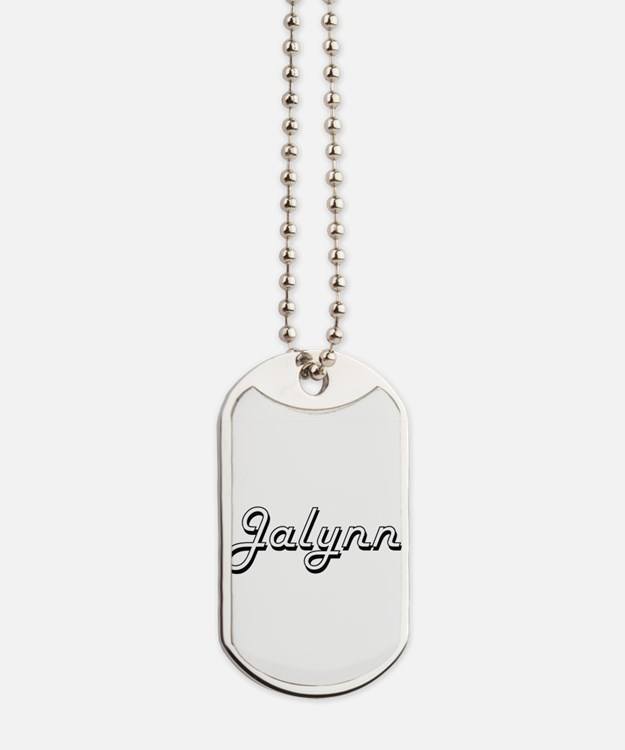 Jalynn Classic Retro Name Design Dog Tags
