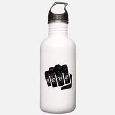 Love Knuckle Tattoo (Distressed) Water Bottle