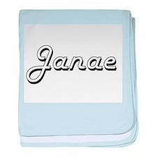 Janae Classic Retro Name Design baby blanket