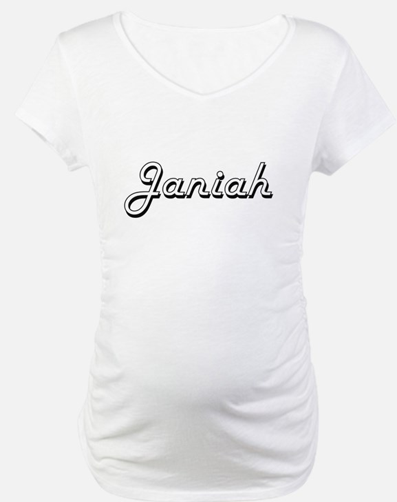 Janiah Classic Retro Name Design Shirt