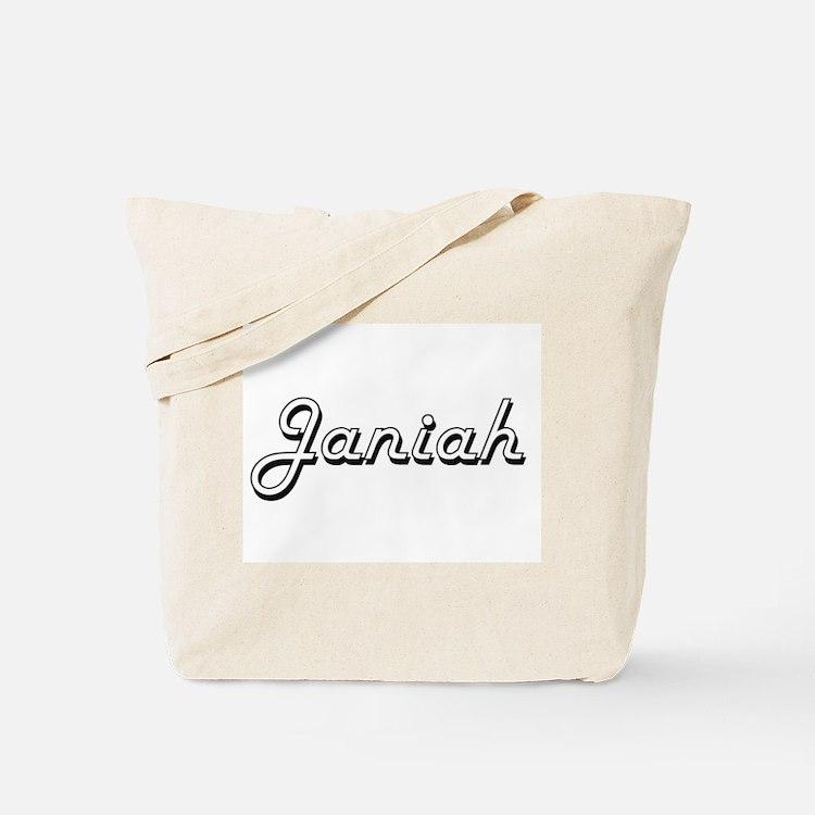 Janiah Classic Retro Name Design Tote Bag