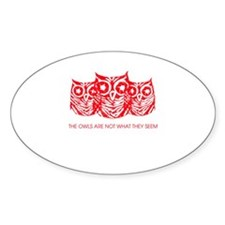 """""""The Owls..."""" - Twin Peaks Decal"""