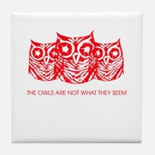 """The Owls..."" - Twin Peaks Tile Coaster"