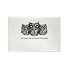 """The Owls..."" - Twin Peaks Rectangle Magnet"