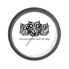 """The Owls..."" - Twin Peaks Wall Clock"