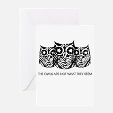 """The Owls..."" - Twin Peaks Greeting Card"