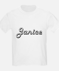 Janice Classic Retro Name Design T-Shirt