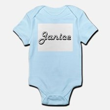 Janice Classic Retro Name Design Body Suit