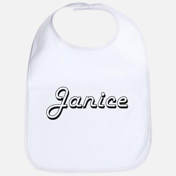 Janice Classic Retro Name Design Bib