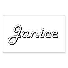 Janice Classic Retro Name Design Decal