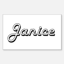 Janice Classic Retro Name Design Decal