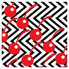 Black Lodge Cherries - Twin Peaks Wall Art Poster