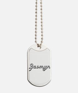 Jasmyn Classic Retro Name Design Dog Tags