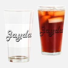 Jayda Classic Retro Name Design Drinking Glass