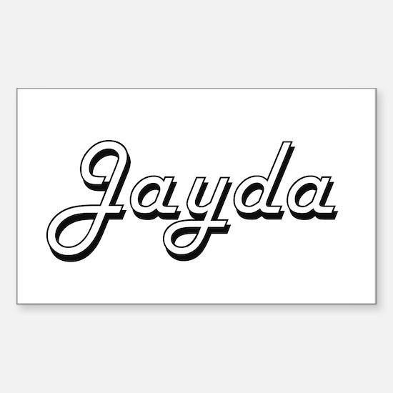 Jayda Classic Retro Name Design Decal