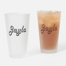 Jayla Classic Retro Name Design Drinking Glass