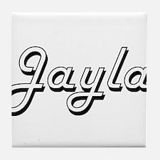 Jayla Classic Retro Name Design Tile Coaster