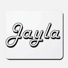 Jayla Classic Retro Name Design Mousepad