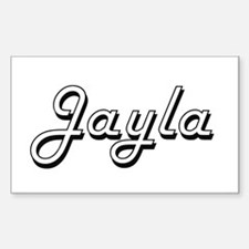 Jayla Classic Retro Name Design Decal