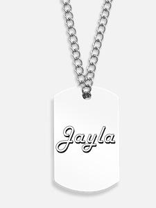 Jayla Classic Retro Name Design Dog Tags