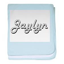 Jaylyn Classic Retro Name Design baby blanket