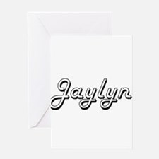 Jaylyn Classic Retro Name Design Greeting Cards