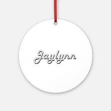 Jaylynn Classic Retro Name Design Ornament (Round)