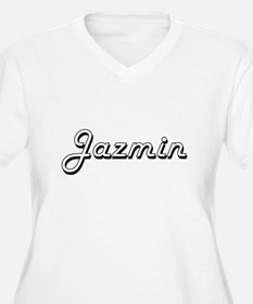 Jazmin Classic Retro Name Design Plus Size T-Shirt