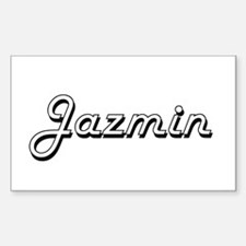 Jazmin Classic Retro Name Design Decal
