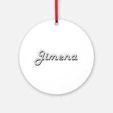 Jimena Classic Retro Name Design Ornament (Round)